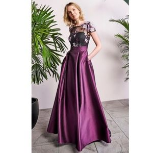 NEW Adrianna Papell | Mikado Beaded Ball Gown 10